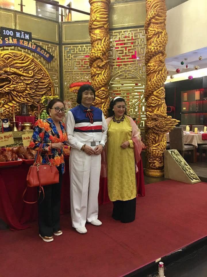 NS Hồng Nga, NSND Minh Vương và NSND Kim Cương trong ngày Truyền thống sân khấu Việt Nam