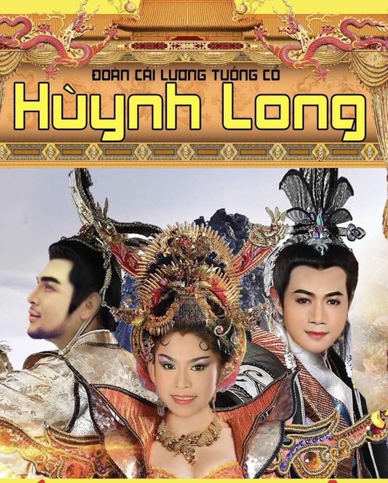 Poster Đoàn cải lương tuồng cổ Huỳnh Long