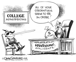 College admissions scandal by Dave Granlund