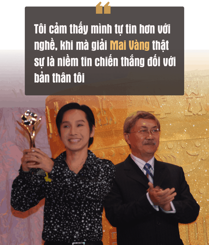 NSƯT Vũ Luân nhận giải Mai vàng 2007. Ảnh: Tư liệu Mai Vàng