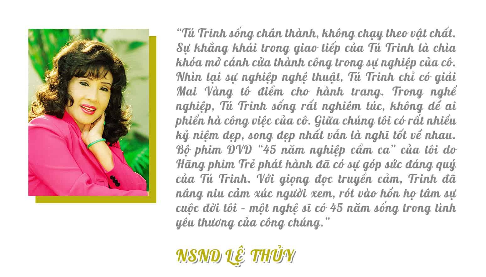 [eMagazine] Nghệ sĩ Tú Trinh: Mai Vàng - Giải thưởng duy nhất trong đời tôi - Ảnh 14.