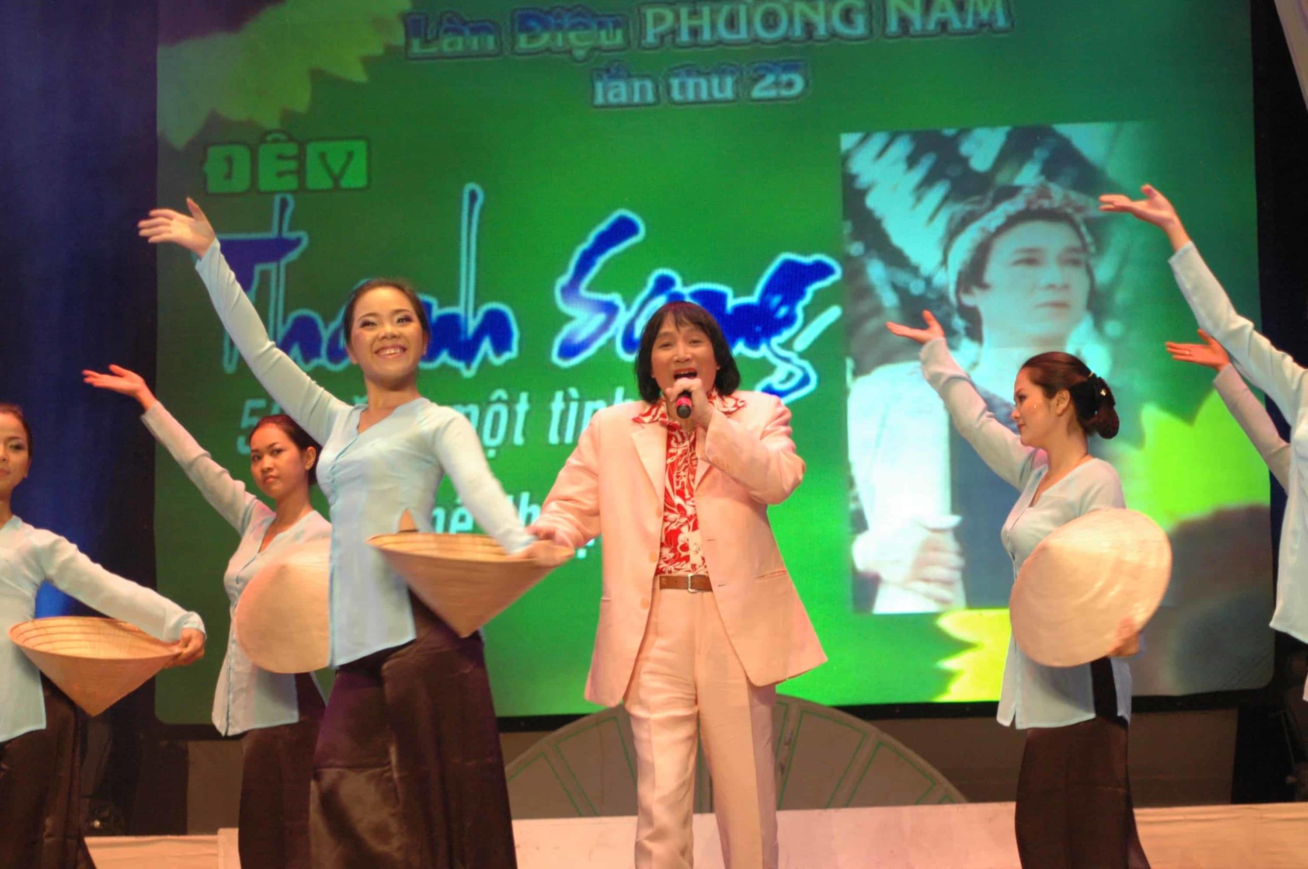 NSƯT Minh Vương trong đêm vinh danh NSƯT Thanh Sang