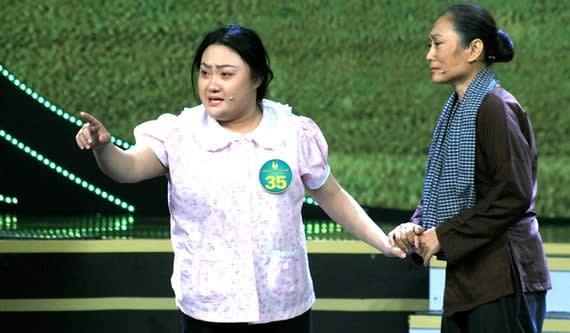 Phần thi của thí sinh Phạm Huyền Trâm với sự phụ diễn của NSƯT Quỳnh Hương