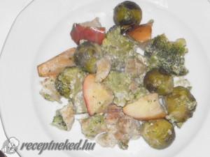 Tejszínes hal brokkolival és kelbimbóval