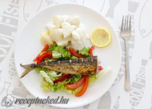 Makréla salátaágyon, joghurtos újburgonyával