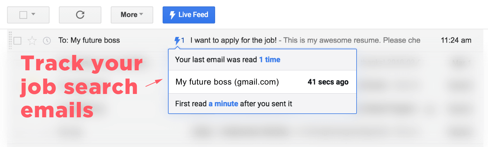 track your job search emails with mixax or streak