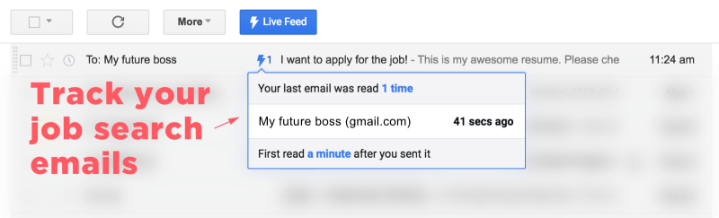 High Quality Track Your Job Search Emails With Mixax Or Streak.