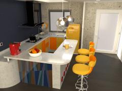 廚房裡的黃色潛水艇