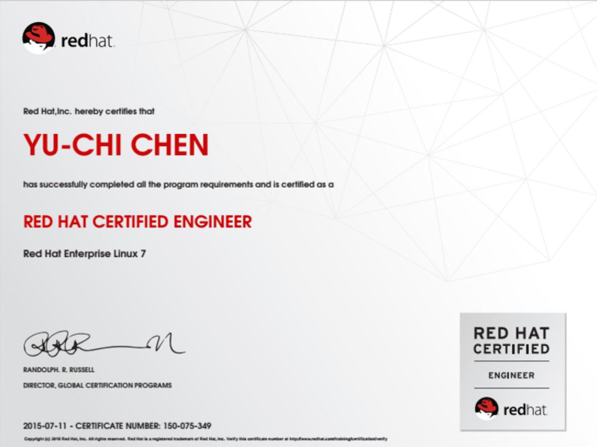 RHCE – YuChi Chen's Portfolio