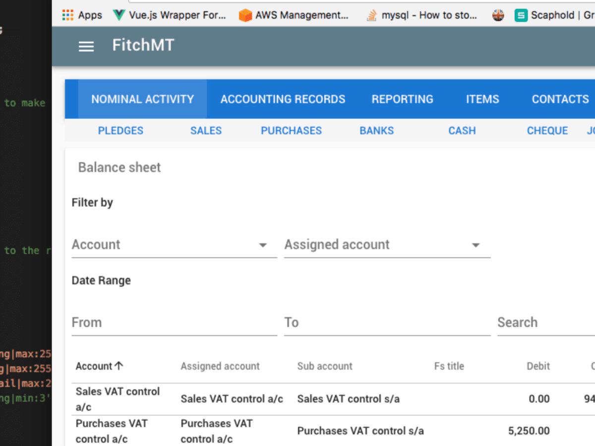 Financial Platform - Vuetify + Laravel – Chen Lee's Portfolio
