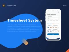APP UI Design - Timesheet System