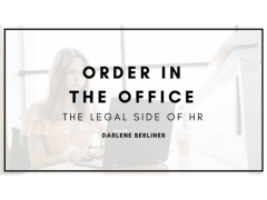 Order in the Office: The Legal Side of HR