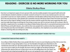 Four Reasons Why Exercise Doesn't Work For You