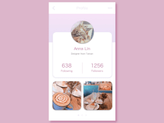 Daily UI-User Profile