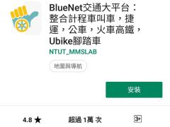 BlueNet交通大平台:整合計程車叫車,捷運,公車,火車高鐵,Ubike腳踏車