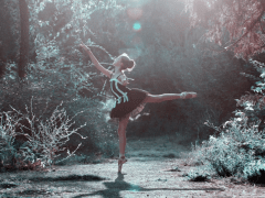 Ballet Dancer in The Woods