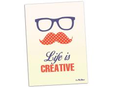 Carte postale Life is creative
