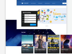 網頁設計  -  Vieshow Web UI Redesign