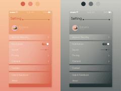 UI Design_ Setting頁面設計
