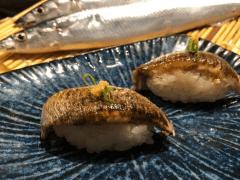 秋刀魚握壽司