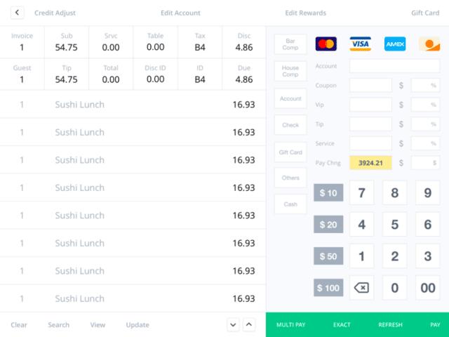 Abacus 收银系统 UI