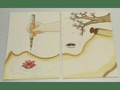 第24屆 臺南四校文藝獎合刊本《一瞬》 封面設計(原稿)