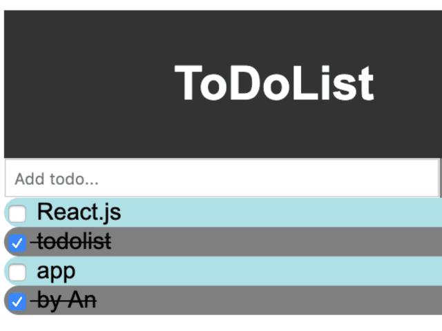 Todo List with React UI + Express API