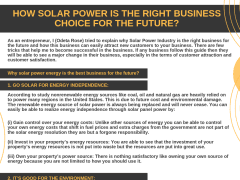 How solar power is the right business