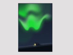 -camping in the aurora- illustration design