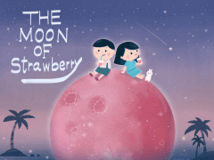 The moon of strawberry