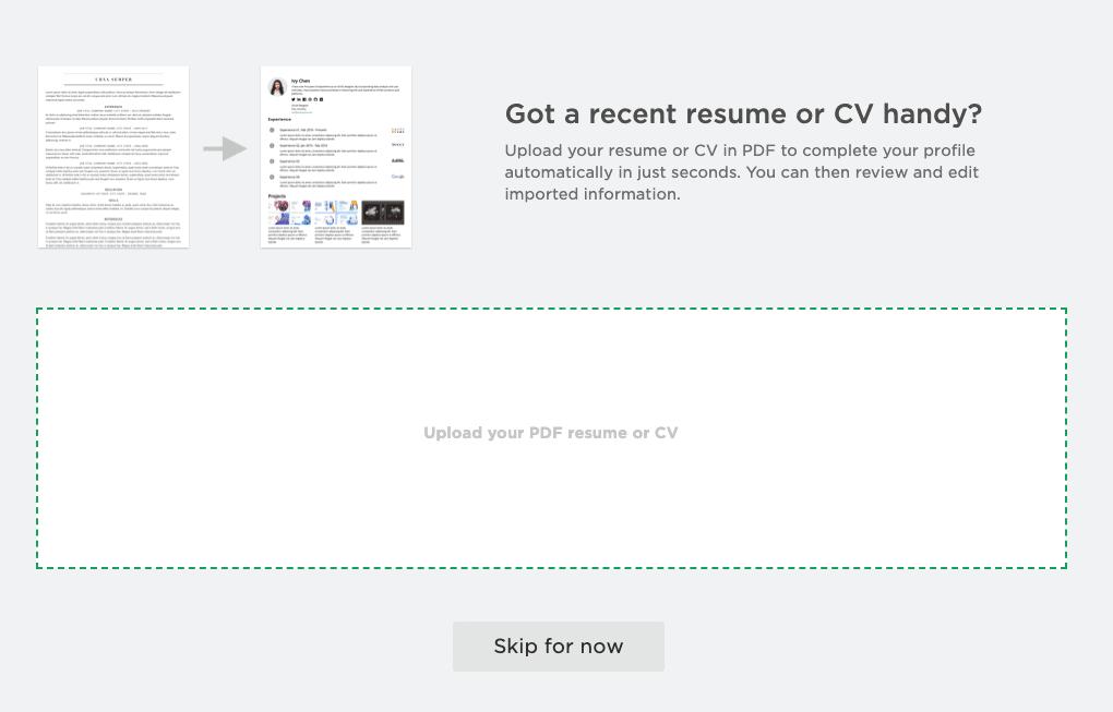 將履歷的 PDF 檔匯入 Cakeresume