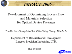 Yr 2006 IMPACT Presentation material
