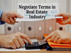 Main Negotiate Terms in Real Estate Industry