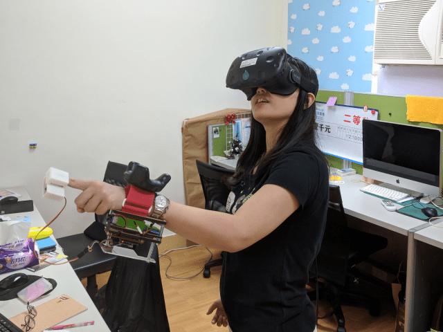 論文:虛擬實境中虛擬按鈕之觸覺回饋研究