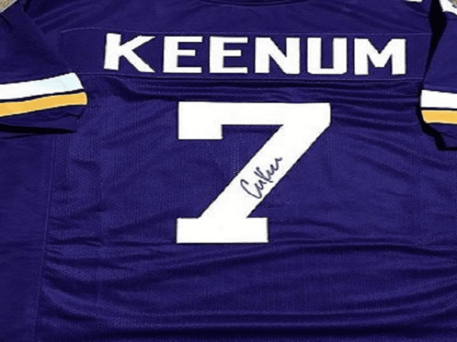 Case Keenum Hand Signed Jersey