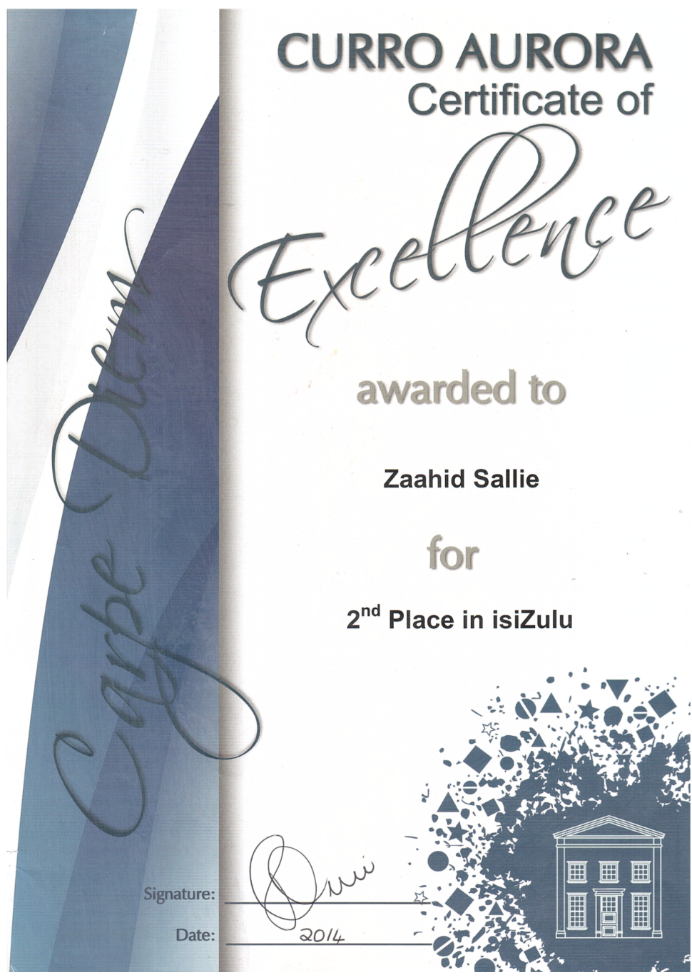 2nd Place iSiZulu.png