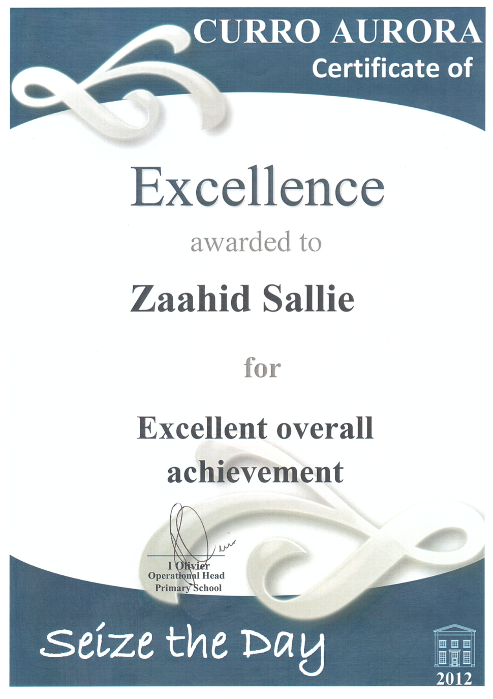 2012 Excellent Overall Achievement.png