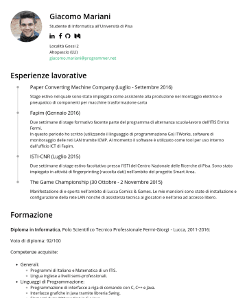 Resume Samples - Tk) Web: Front-end : HTML, CSS, JavaScript (Angular 1.x, React, Vue, Polymer), Hugo Static Site Generator Back-end : PHP, Node.js (Express, Serverless), Go, Python (Django, Flask) Database : SQL (MySQL), NoSQL (MongoDB) Funzionali: Caml Light, OCaml Haskell Sistemi operativi: Microsoft Windows, Linux (Debian, Ubuntu e derivati), Mac OSX. Microsoft...