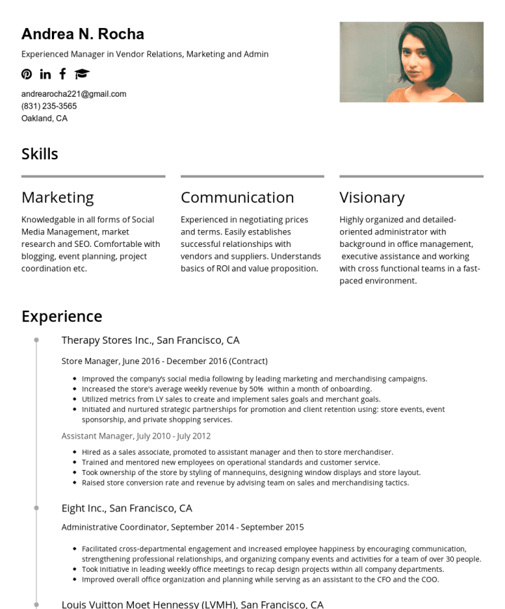andrea rocha cakeresume featured resumes