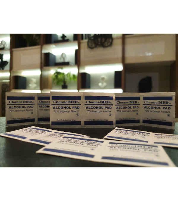 Caja 200 toallitas PAD desinfectantes alcohol al 70%
