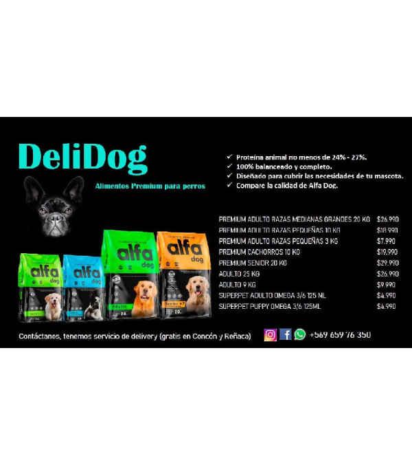 Alimento perros DeliDOG Premium