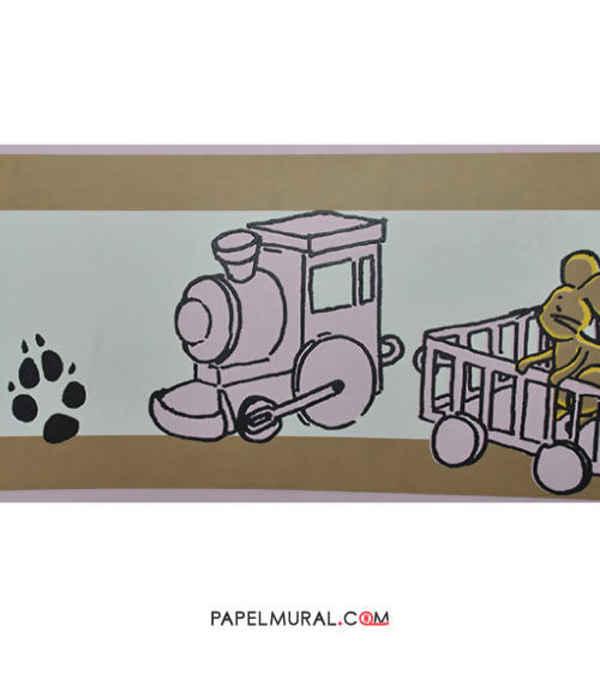 Papel Mural Guarda Infantil Ferrocarril | Manekin