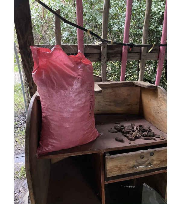 Corteza natural en sacos