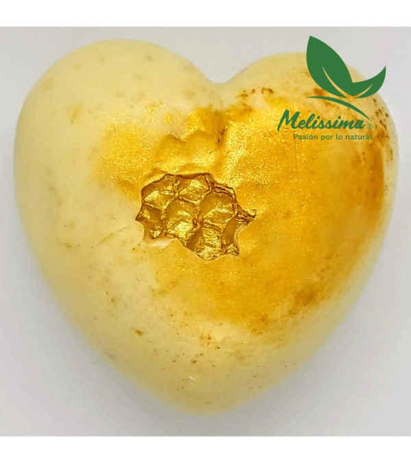 Jabón Corazón de Glicerina Cremosa con Cera de Abeja 90 grs.