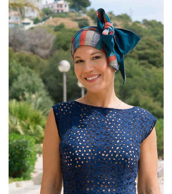 Turbante Oncológico - Anne Chic - Reversible