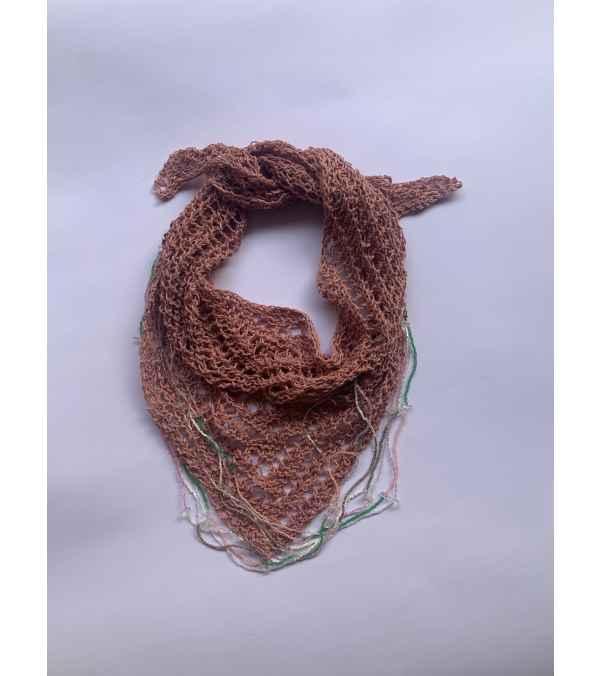 collar, bufanda lino triangular Joyerìa textil (a039)