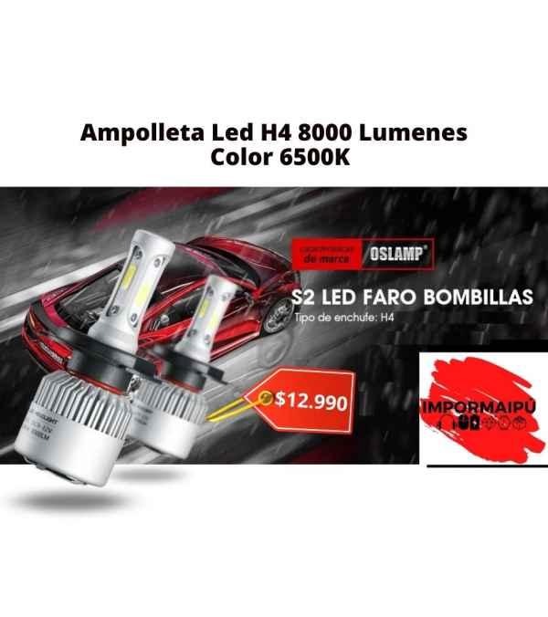 Ampolleta para auto Led H4 8000 Lumenes Color 6500K