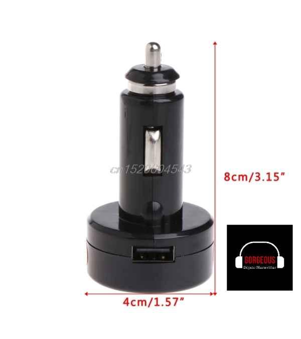 Cargador para celular termometro y voltímetro Led Redondo rápido 1 USB, 2.1 A, 3 en 1