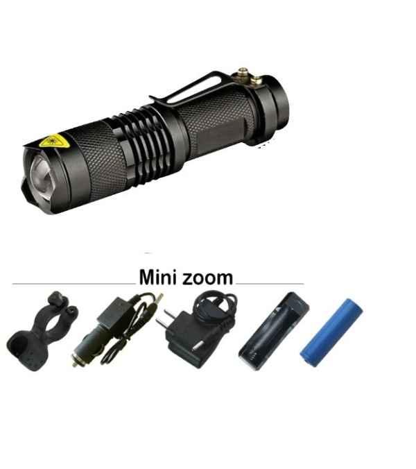 Linterna T6 LED 8.000 Lum Recargable sola (Pila 18650 ó AA)