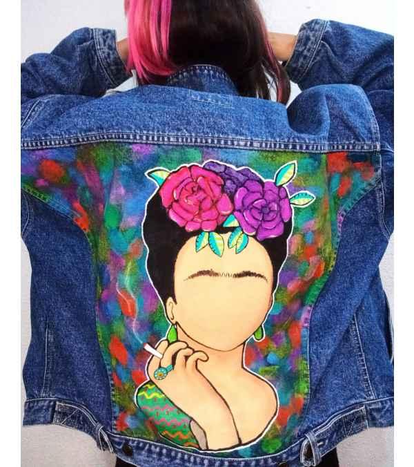 Chaqueta mezclilla Frida Kahlo